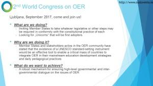 UNESCO 2nd World OER Congress 2017 in Ljubljana