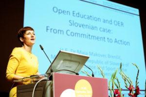 H.E. Dr Maja Makovec Brenčič, Minister of the Republic of Slovenia of Education, Science and Sport of the Republic of Slovenia - 2nd World Open Educational Resources (OER) Congress